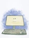 lycklig dator vektor illustrationer