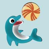 Lycklig delfin Arkivbilder