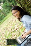 lycklig deltagare för högskola Royaltyfria Foton