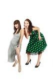 lycklig deltagare två för flickor Arkivfoto