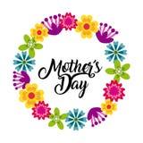 Lycklig design för dag för moder` s stock illustrationer