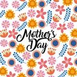 Lycklig design för dag för moder` s vektor illustrationer