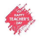 Lycklig design för orientering för dag för lärare` s med blommakortet royaltyfri illustrationer