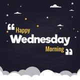 Lycklig design för vektor för bakgrund för illustration för lägenhet för onsdag morgon Royaltyfri Illustrationer