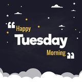 Lycklig design för vektor för bakgrund för illustration för lägenhet för tisdag morgon Vektor Illustrationer