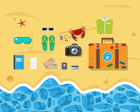 lycklig din feriesommar för familj Fotografering för Bildbyråer
