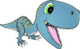 Lycklig dinosaurieT-Rex vektor Royaltyfri Fotografi