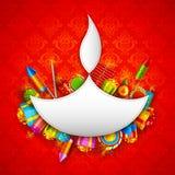 lycklig diwali Royaltyfri Foto