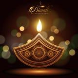 Lycklig diwali för text vektor illustrationer