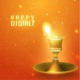 Lycklig Diwali vektordesign Royaltyfria Bilder