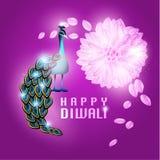 Lycklig Diwali vektordesign Fotografering för Bildbyråer