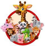 Lycklig djur tecknad film Royaltyfria Foton