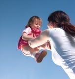 lycklig dotter Fotografering för Bildbyråer