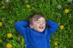 Lycklig drömmare Fotografering för Bildbyråer