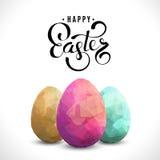 Lycklig easter bakgrund med ägg stock illustrationer