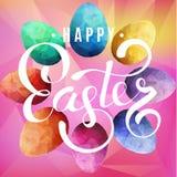 Lycklig easter bakgrund med ägg royaltyfri illustrationer