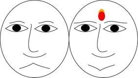 Lycklig emoji vektor illustrationer