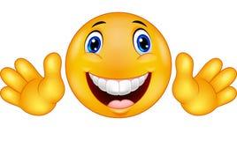 Lycklig emoticonsmiley Arkivfoton