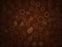 Lycklig esterbakgrund vektor illustrationer