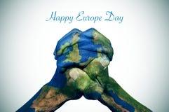 Lycklig Europa dag royaltyfri fotografi