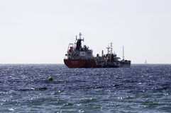 Lycklig fågel för LPG-tankfartyg med kemikalie- och produkttankfartyget Whitnavigator Arkivfoton