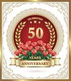 Lycklig födelsedag 50 år Royaltyfri Fotografi