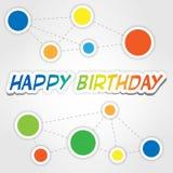 Lycklig födelsedag 2 Vektor Illustrationer