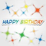 Lycklig födelsedag 3 Vektor Illustrationer