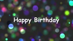 lycklig födelsedag stock video