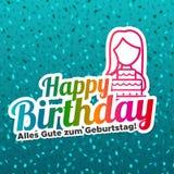 Lycklig födelsedag - Alles Gute zum Geburtstag royaltyfri illustrationer