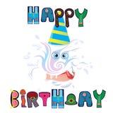 Lycklig födelsedag för härlig önska för någon person Arkivfoto