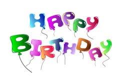 Lycklig födelsedag för ljusa ballonger Royaltyfria Foton