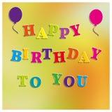 Lycklig födelsedag för suddig bakgrund, vektorillustration Arkivbilder