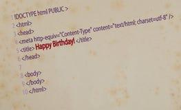 Lycklig födelsedag för vykort! Fotografering för Bildbyråer