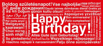 grattis på olika språk Lycklig Födelsedag På Olika Språk Arkivfoto   Bild av biscay  grattis på olika språk