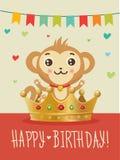 lycklig födelsedag till dig Önska humor, kamratskap greeting lyckligt nytt år för 2007 kort Födelsedagbild vektor illustrationer