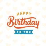 lycklig födelsedag till dig royaltyfri illustrationer