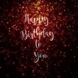Lycklig födelsedag till dig guld- kort Royaltyfri Fotografi