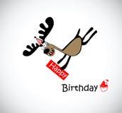 Lycklig födelsedag till en royaltyfri illustrationer