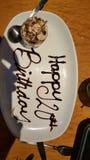 Lycklig födelsedag till mig! Royaltyfria Foton