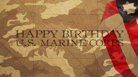 Lycklig födelsedag USA Marine Corps Royaltyfri Foto