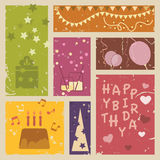 Lycklig födelsedagbakgrund Arkivbilder