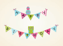 Lycklig födelsedagbakgrund Arkivbild