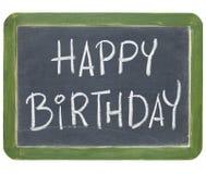 lycklig födelsedagblackboard royaltyfri fotografi