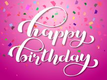 Lycklig födelsedagbokstäver också vektor för coreldrawillustration vektor illustrationer