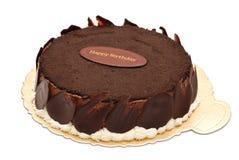 Lycklig födelsedagchokladCake Royaltyfri Foto