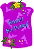 lycklig födelsedaghälsning royaltyfri illustrationer