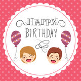 lycklig födelsedaghälsning vektor illustrationer