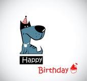 lycklig födelsedaghund vektor illustrationer