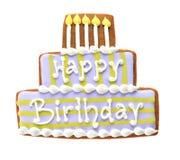 lycklig födelsedagkaka Royaltyfria Foton